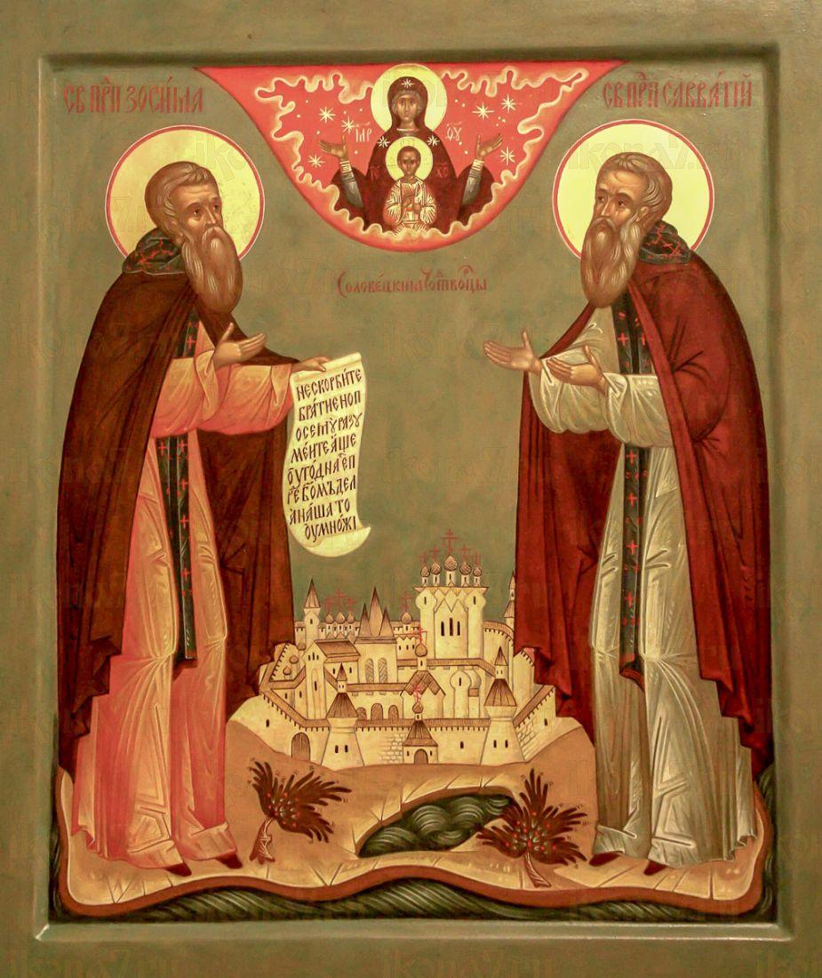 икона Соловецких святых